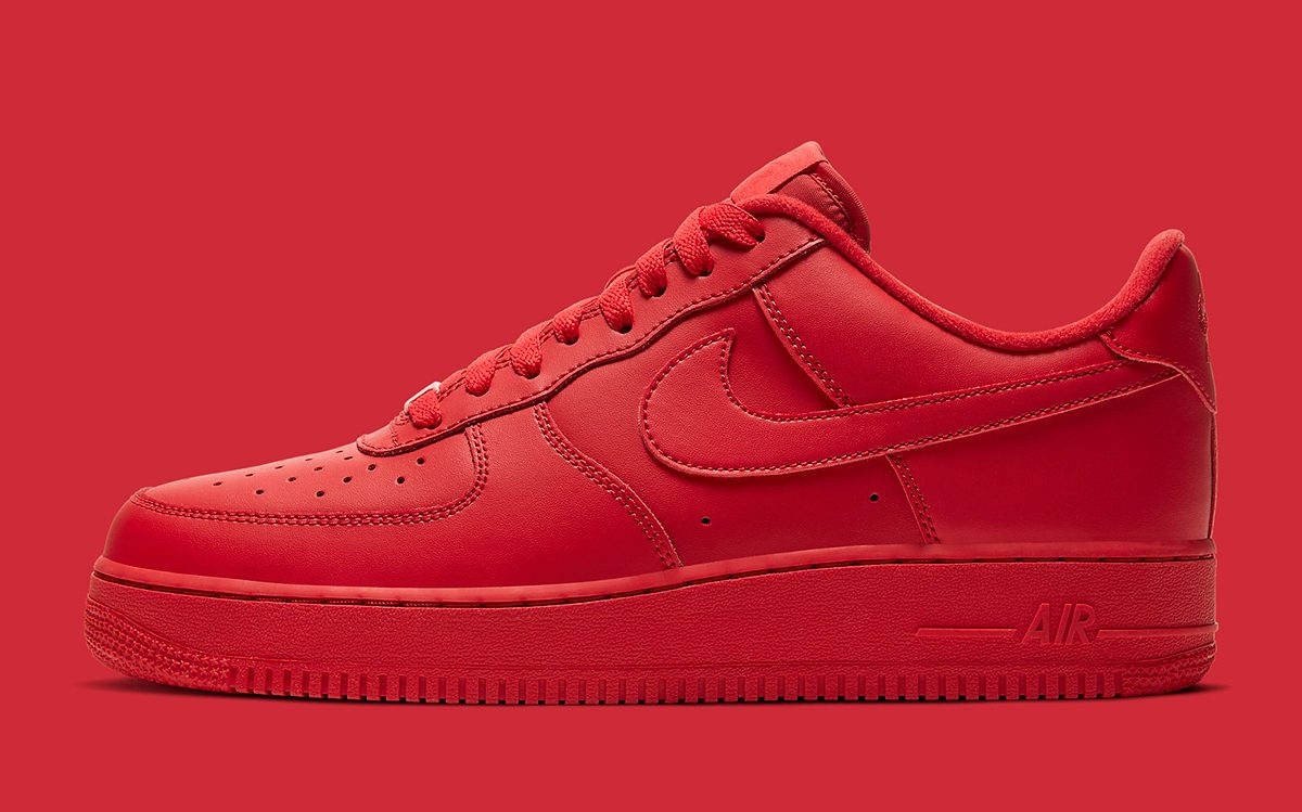 "Available Now // Nike Air Force 1 Low ""Triple Red"""
