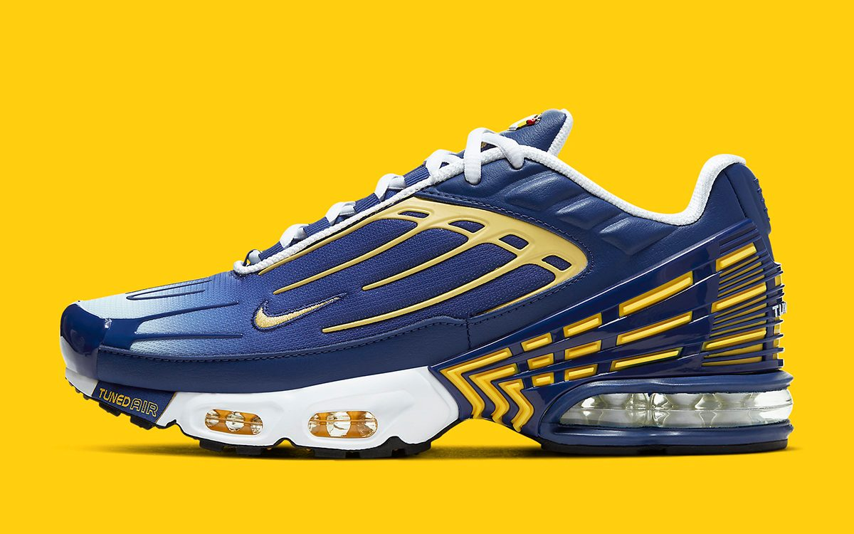 Available Now // The Nike Air Max Plus 3 Comes Up In Chargers Colors