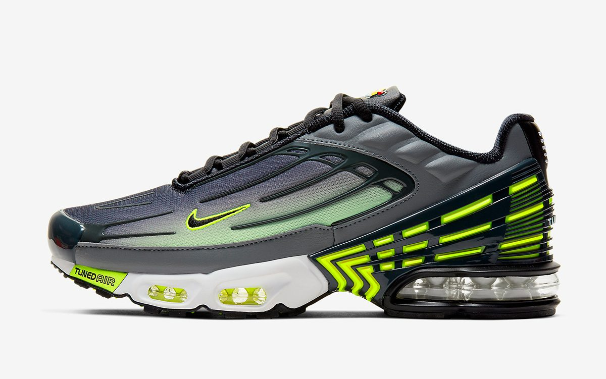 """Available Now // Nike Air Max Plus 3 """"Neon"""""""