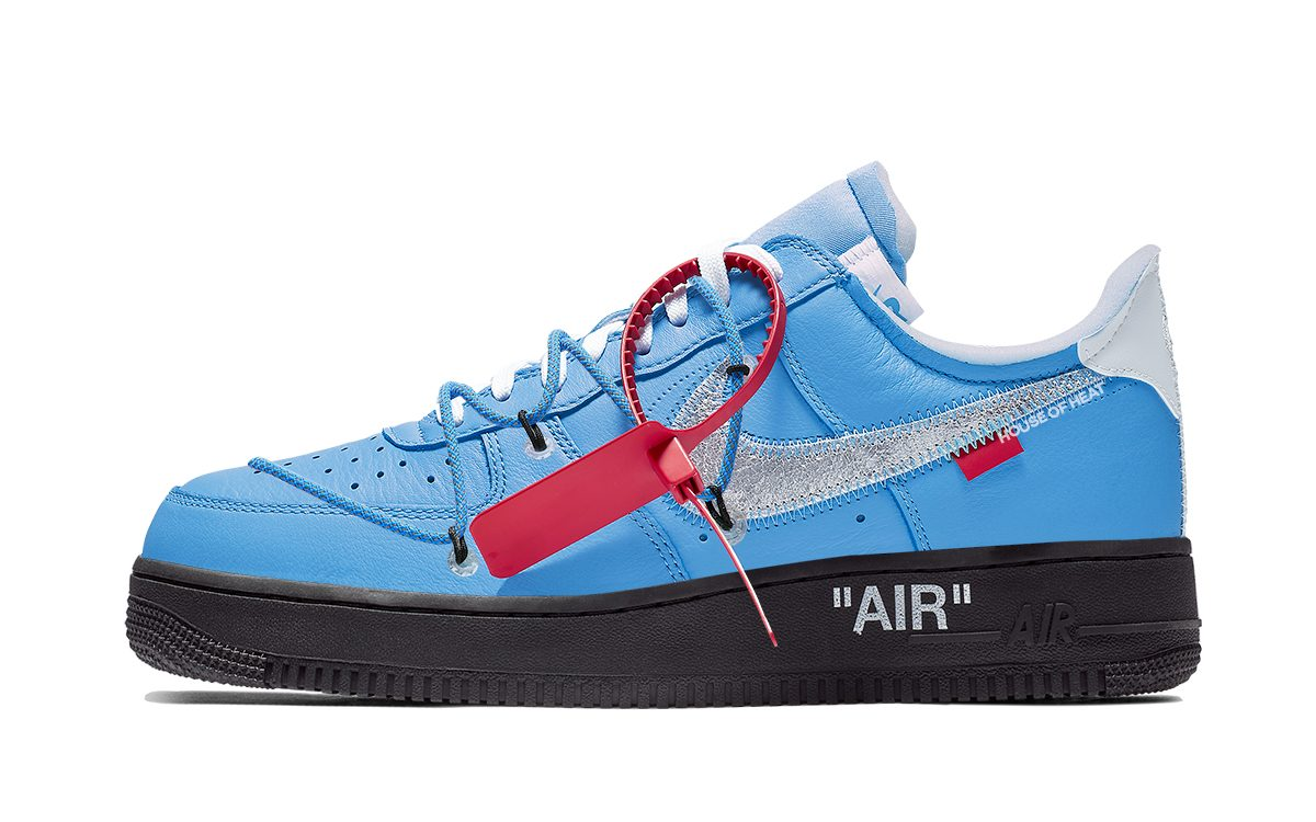Off White X Nike Air Force 1 Low Blue Black Rumored For August