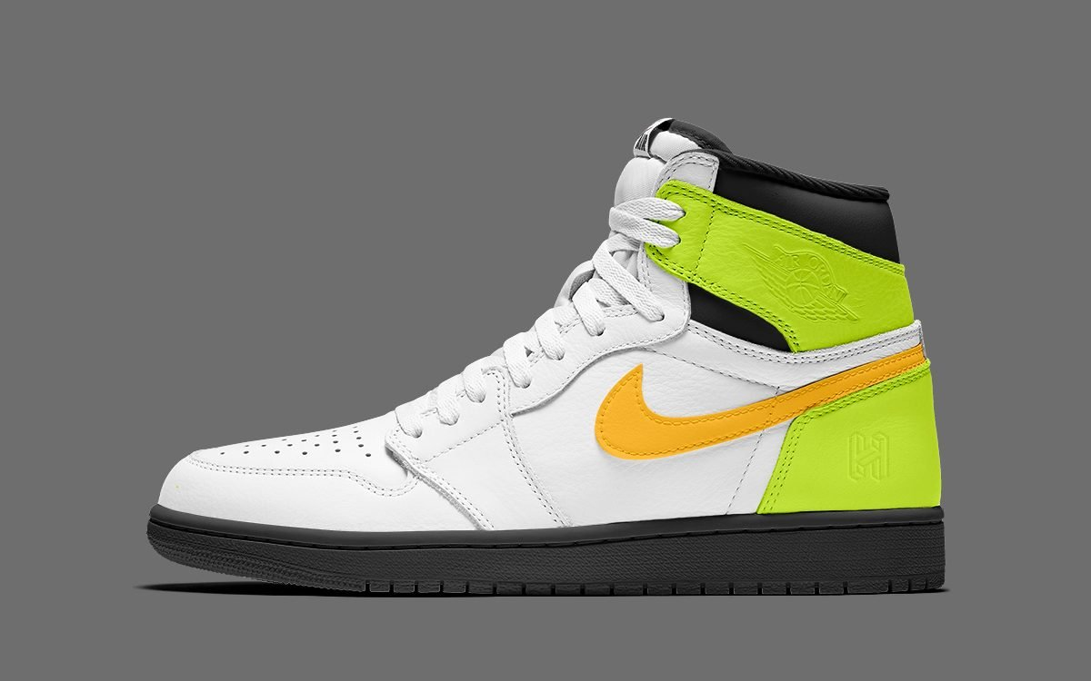 A Wild White/Volt/University Gold Air Jordan 1 is on the Way