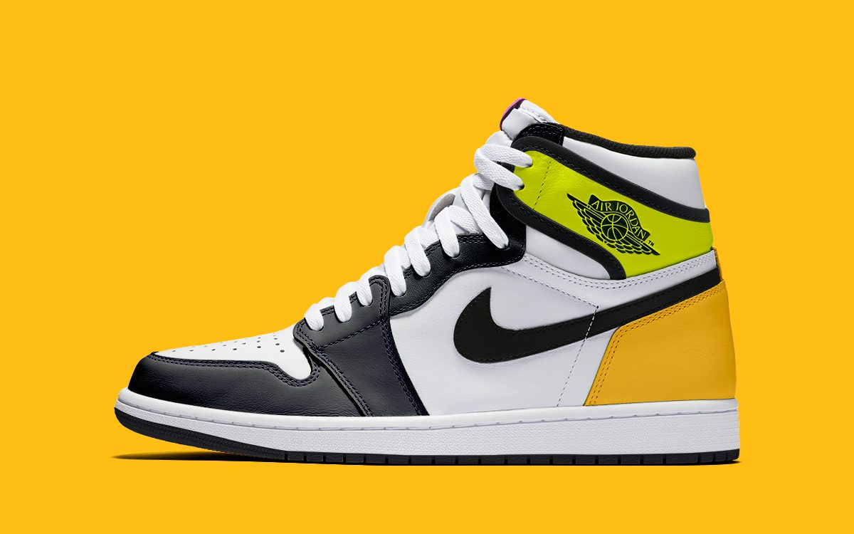 "First Looks at the Air Jordan 1 ""Volt/University Gold"""