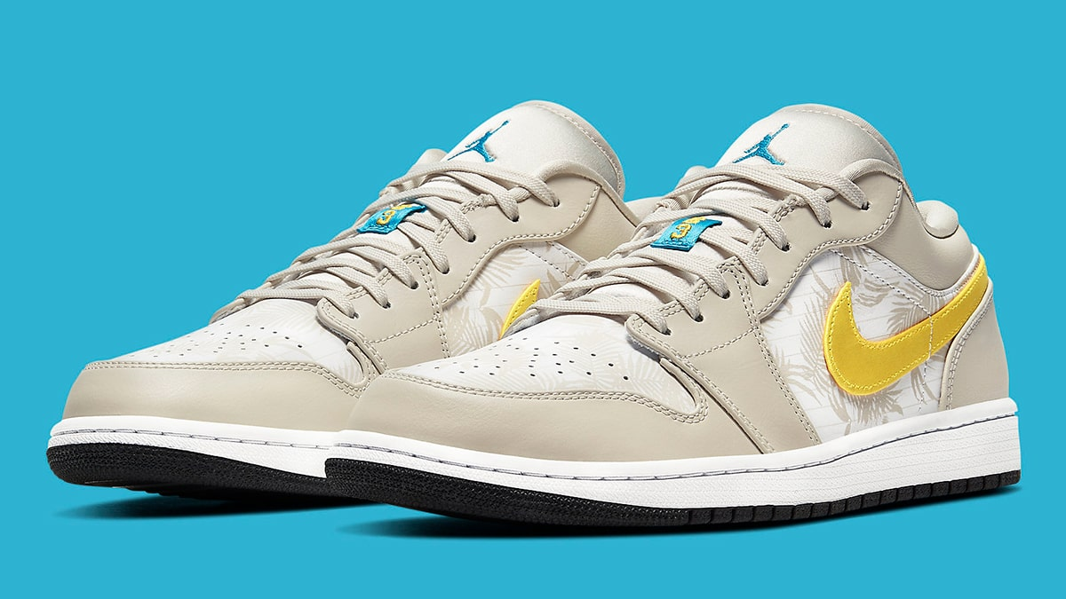 Jordan Brand Issue A Tropical Take On The Air Jordan 1 Low House Of Heat Sneaker News Release Dates And Features