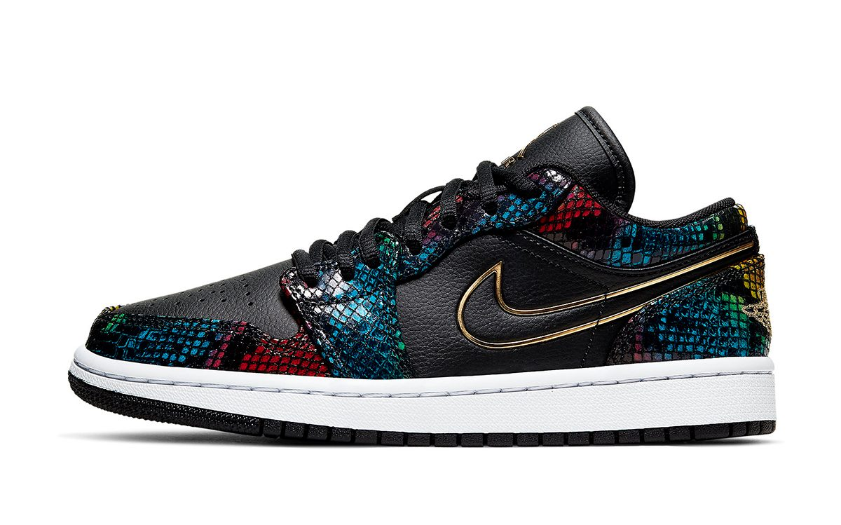 Multi-Color Snakeskin Jordan 1 Low Releases May 1st - HOUSE ...