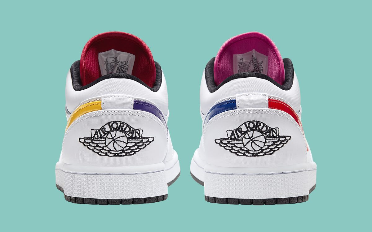This Multi-Color Swoosh Air Jordan 1 Low is Available Now!