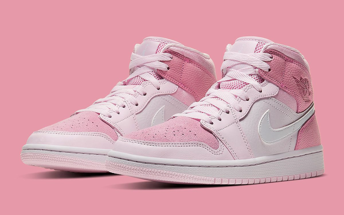 "This Air Jordan 1 Mid ""Digital Pink"" Forms Part of Upcoming Pink-Themed Pack"