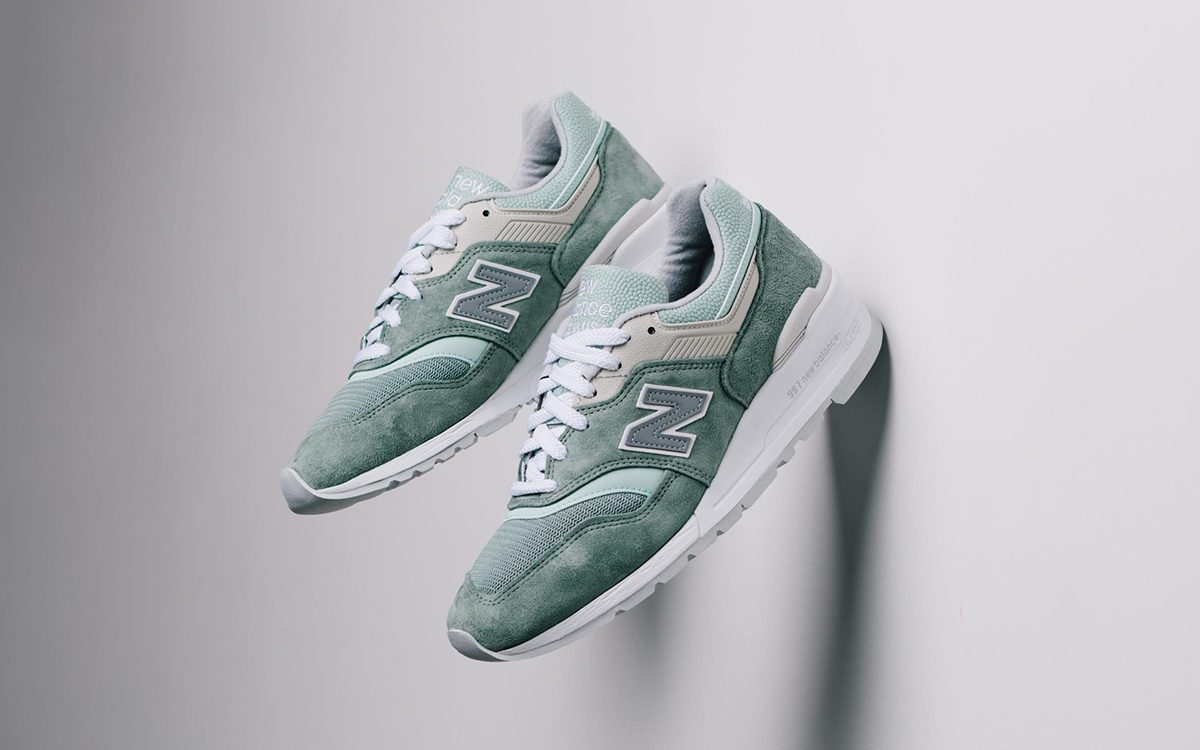 """Available Now // New Balance 997 """"Less is More"""" Mint"""