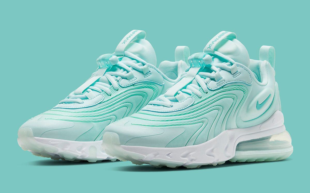 Available Now Nike Air Max 270 React Eng Teal Tint House Of Heat Sneaker News Release Dates And Features