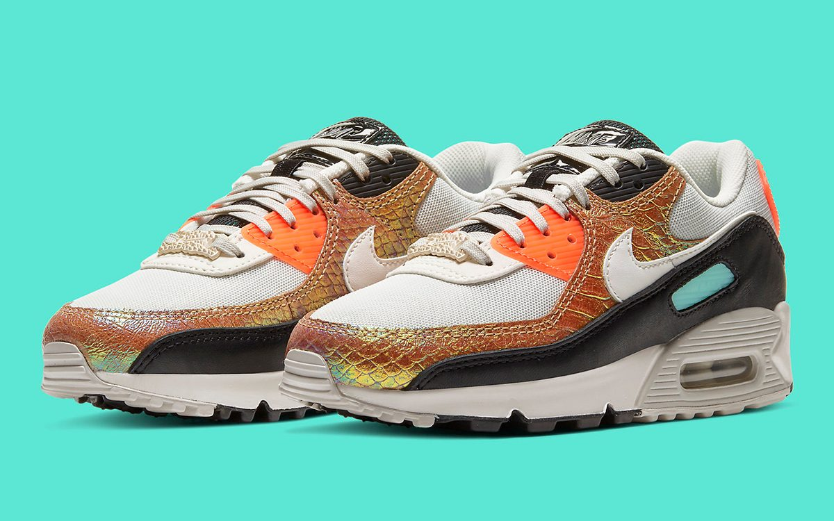 The Air Max 90 Gets Sauced with Gold Iridescent Snakeskin