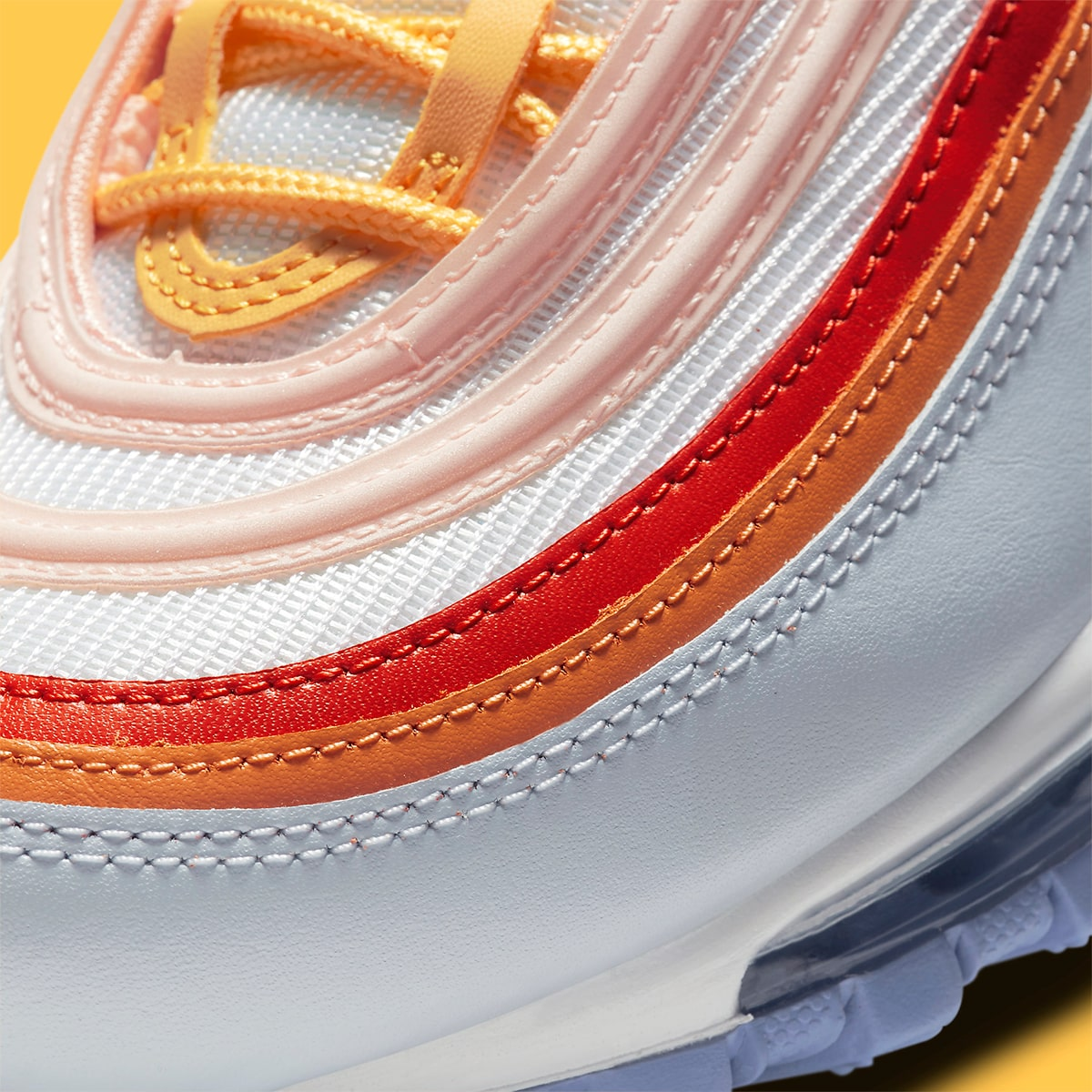 nike air max 97 white pink lavender red oragne cw5588 001 release date info 7
