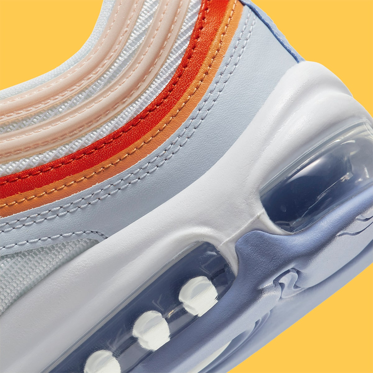 nike air max 97 white pink lavender red oragne cw5588 001 release date info 8