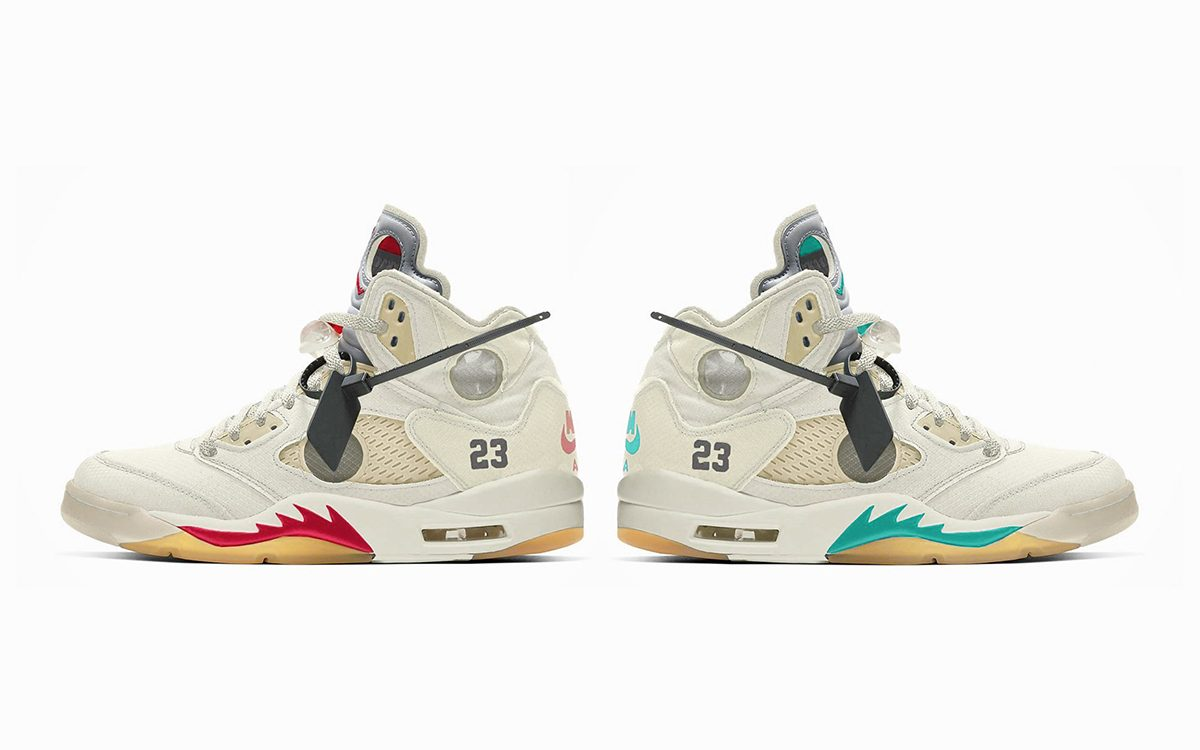 nike air jordan 5 off white raffle