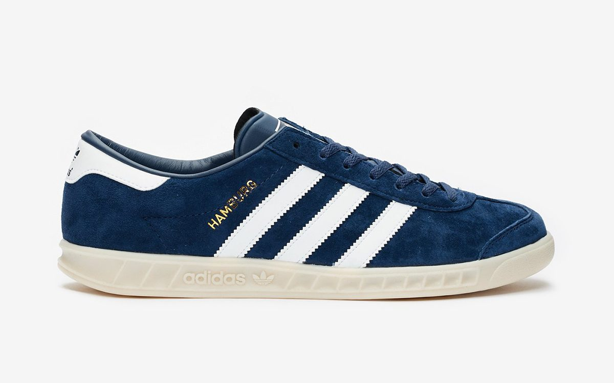 The adidas Hamburg is Available Now in Classic Navy and White