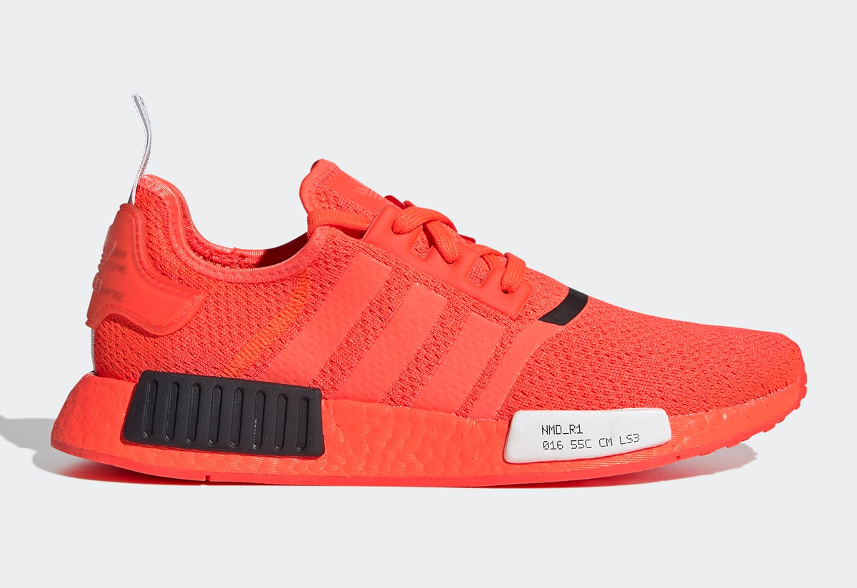 Adidas Nmd R1 Surfaces In Simmering Solar Red House Of Heat