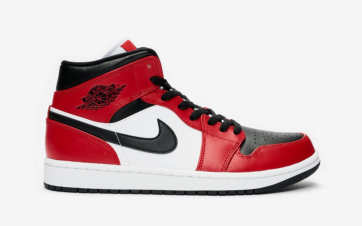 "Available Now // Air Jordan 1 Mid ""Chicago Toe"""