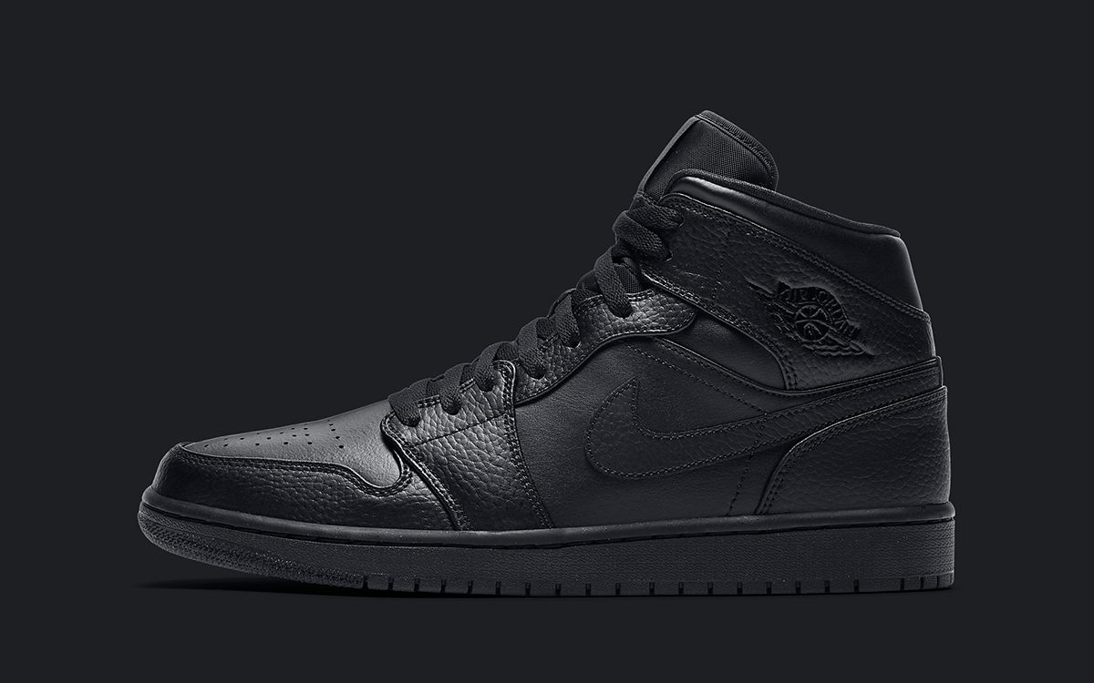 "The Air Jordan 1 Mid ""Triple Black"" is Back For Summer 2020"