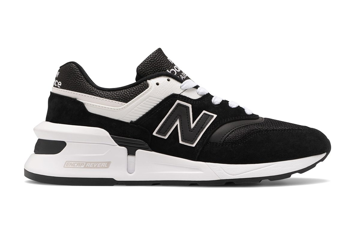 Available Now // Low-Key Lux New Balance 997 Sport Arrives in Black and White