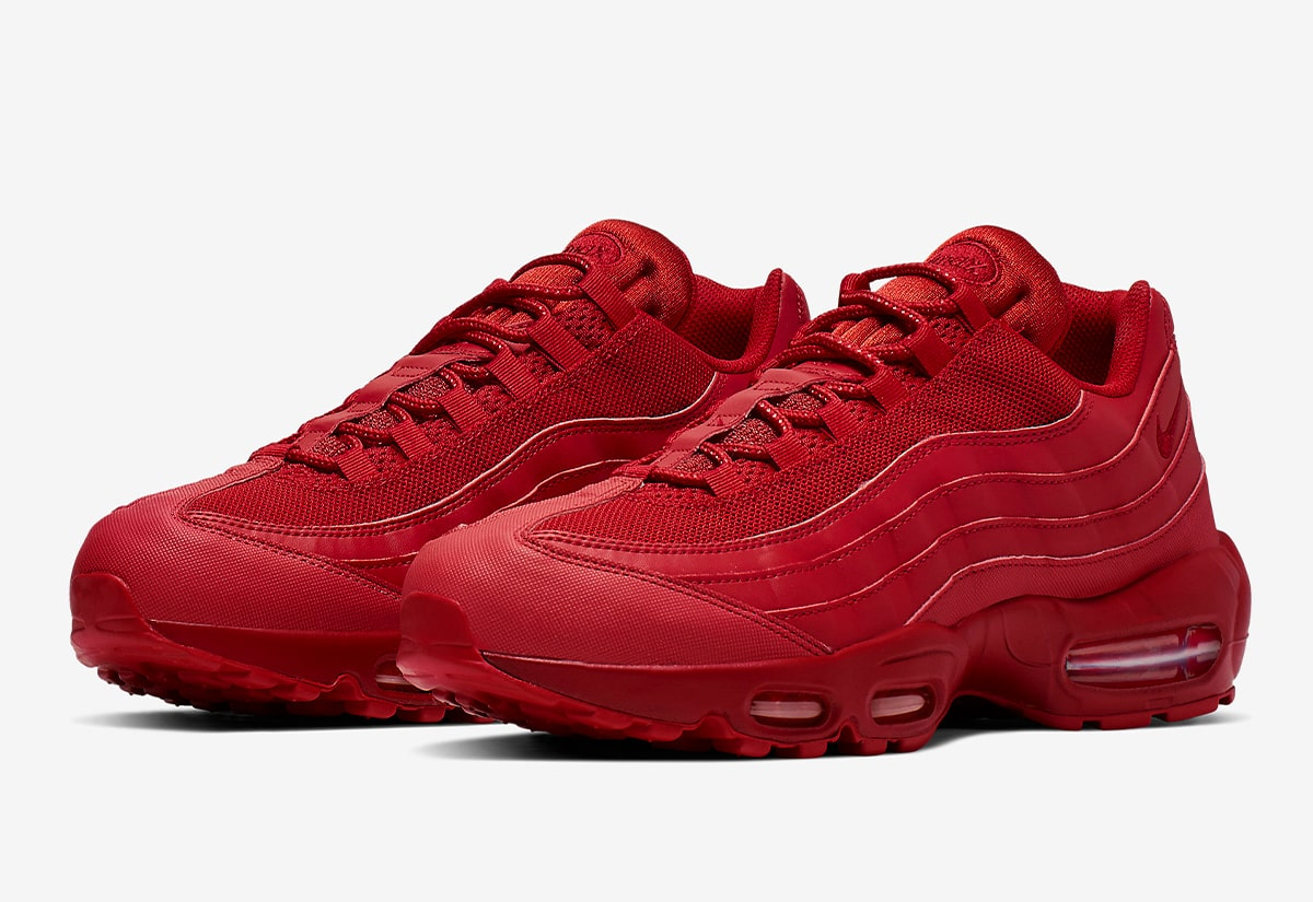 Available Now The Air Max 95 Takes On Tonal Triple Red