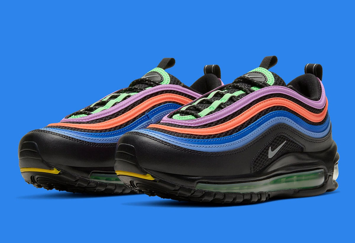 Available Now Nike Air Max 97 In Black Multi Color House Of