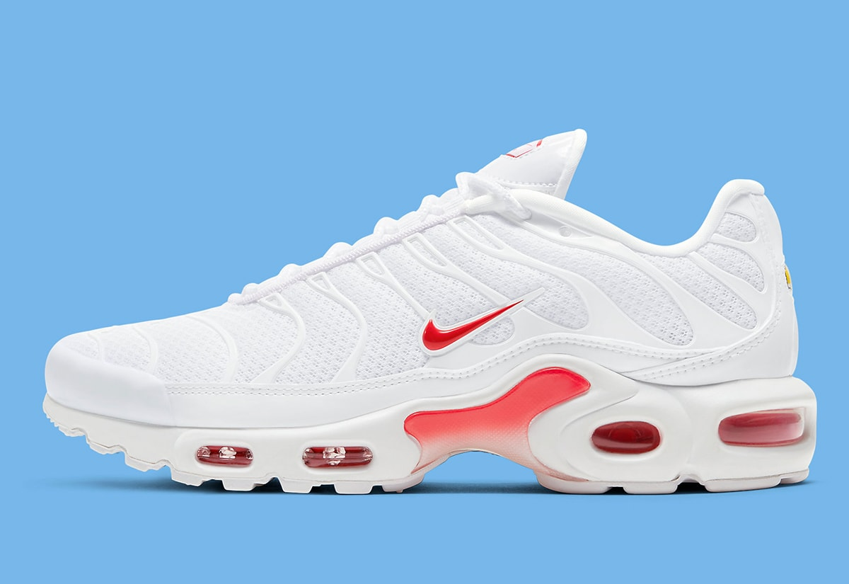 The Nike Air Max Plus Surfaces In A Summer Ready White And Red