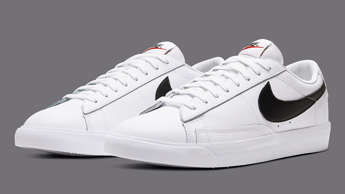 The Nike Blazer Low Leather is Back in White and Black ...