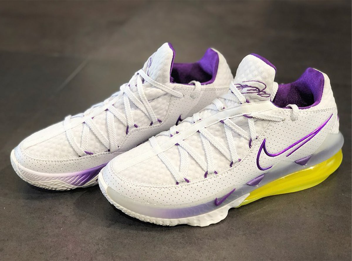 """Condensar semanal máquina  The King Homages His Home Court with Nike LeBron 17 Low """"Lakers Home"""" -  HOUSE OF HEAT 