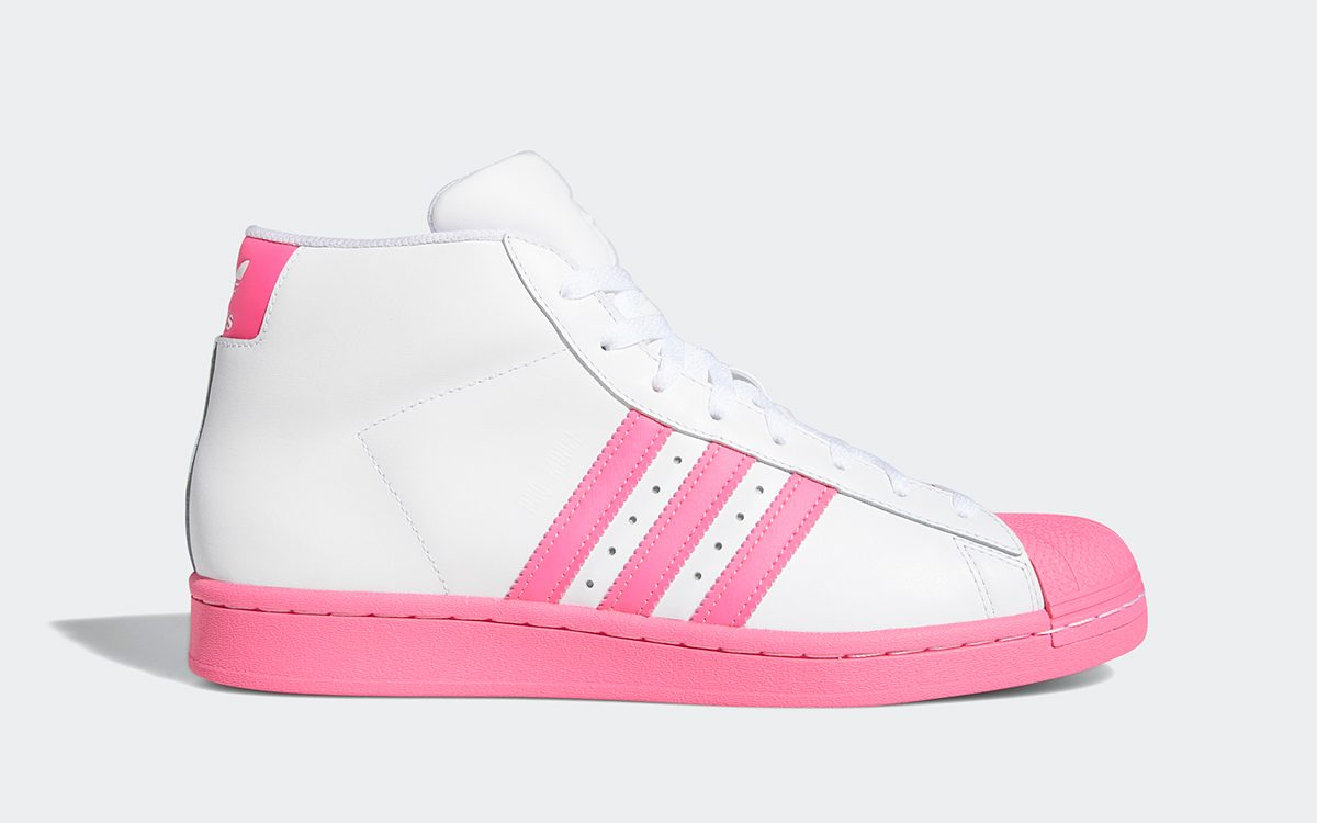 """Available Now // adidas Pro Model """"Pink Toe"""""""