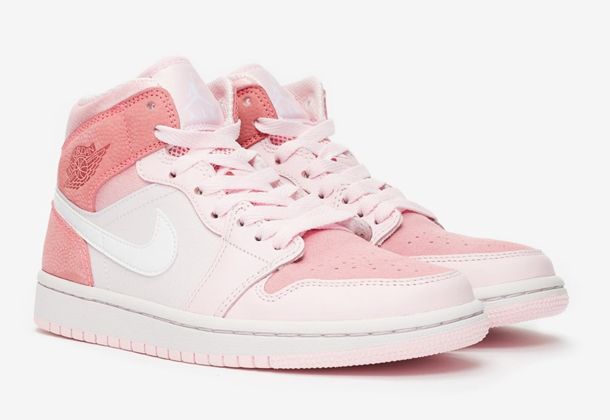 Detailed Looks At The Air Jordan 1 Mid Digital Pink House Of