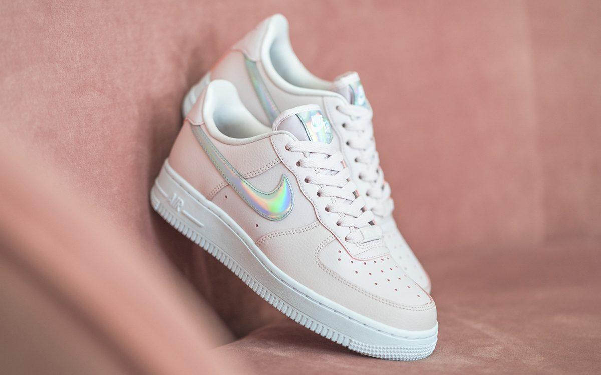 Iridescent-Swooshed Nike Air Force 1 Low