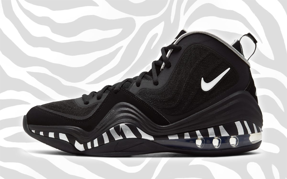 """Available Now // Nike Air Penny 5 """"Zebra"""""""