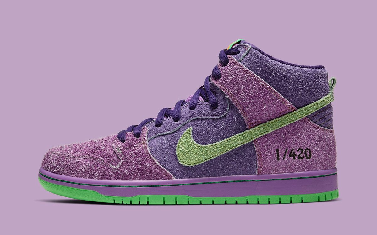 "Nike SB Dunk High 420 ""Reverse Skunk"" Arrives April 20"