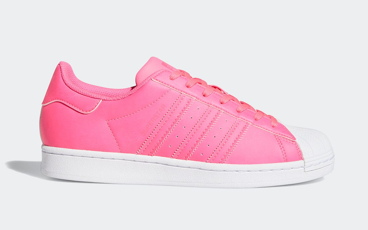 """Available Now // adidas Superstar """"Solar Pink"""""""