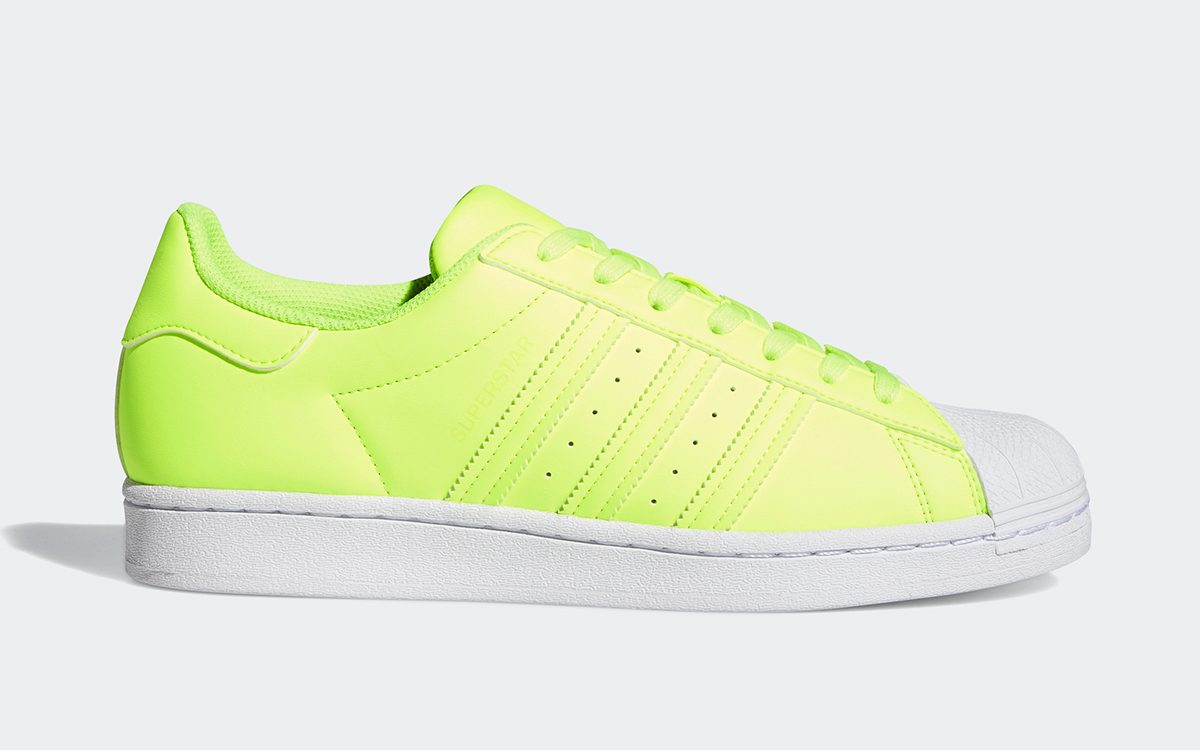 """Electric """"Solar Yellow"""" adidas Superstar Available Now"""