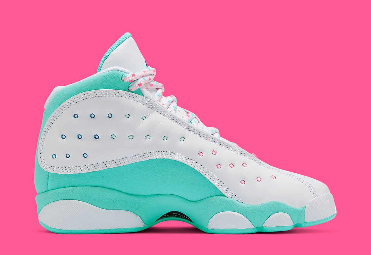 Air Jordan 13 Gs Aurora Green Arrives May 8th House Of Heat Sneaker News Release Dates And Features