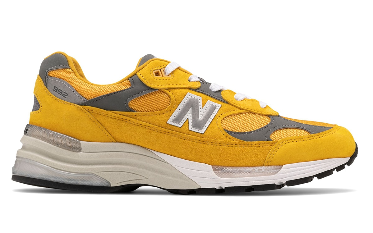 New Balance 992 Gears Up In Gold And Grey House Of Heat Sneaker News Release Dates And Features