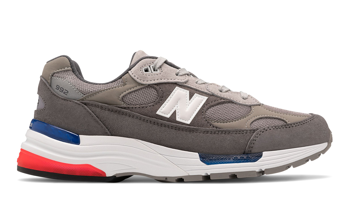 Grey, Blue and Red New Balance 992