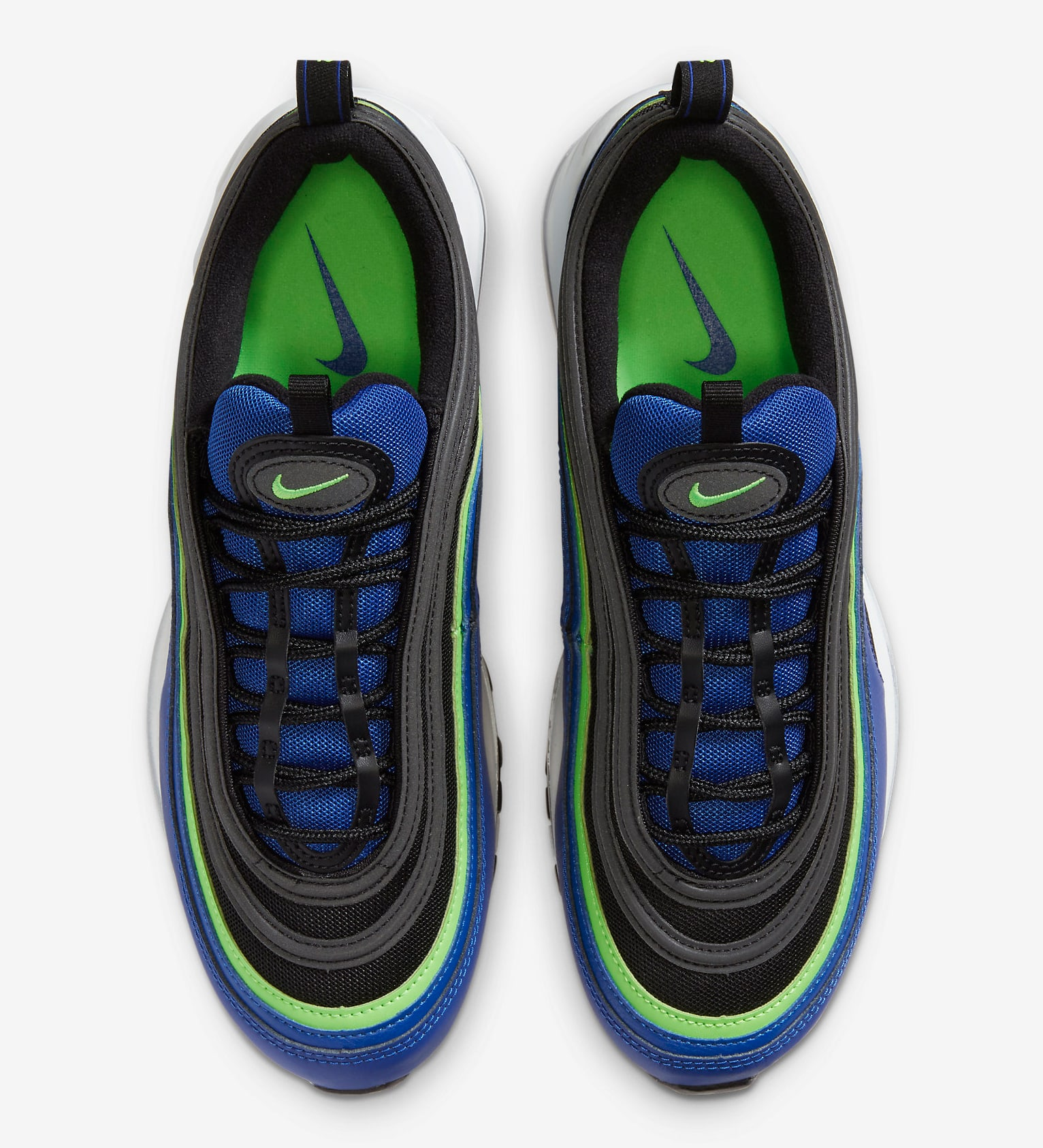 cuello Rizo Lo encontré  Air Max 97 in Neon, Black and Royal is Available Now - HOUSE OF HEAT |  Sneaker News, Release Dates and Features