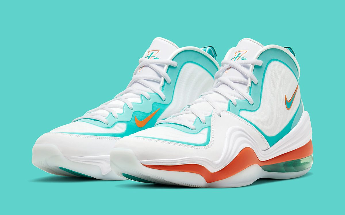 "Available Now // Air Penny 5 ""Alternate Miami Dolphins"""