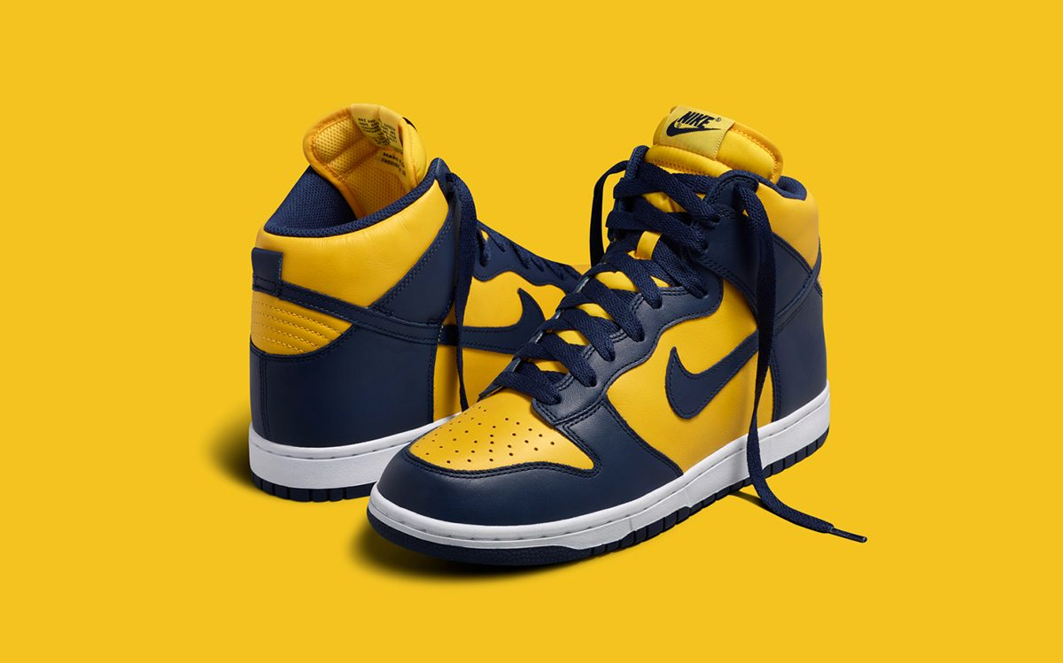 "Where to Buy the Nike Dunk High ""Michigan"""