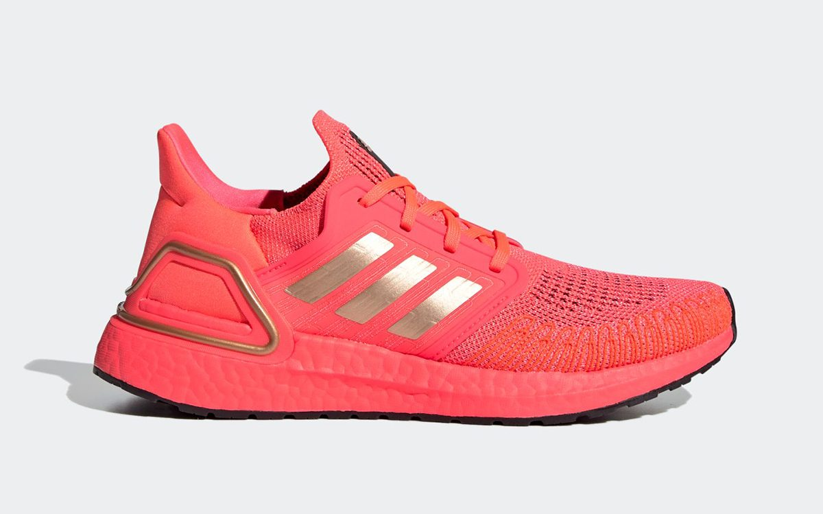adidas Ultra BOOST 20 Arriving in Awesome Solar Red and Metallic Gold