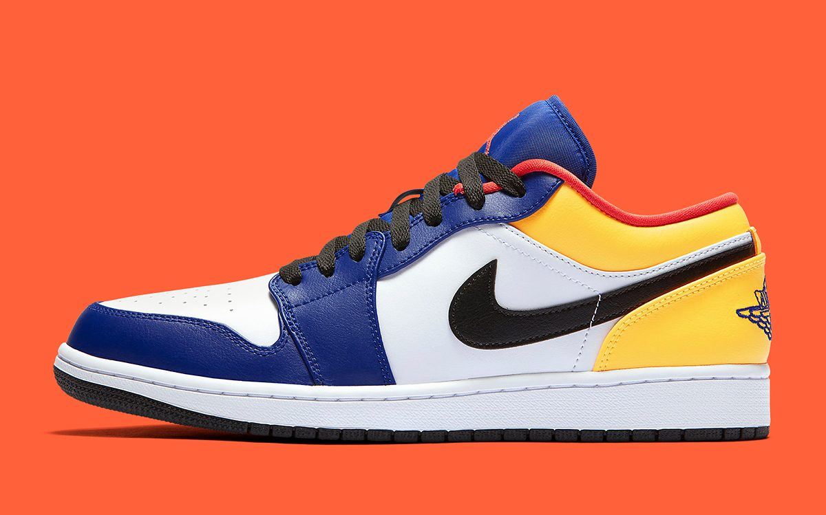 Available Now //  Air Jordan 1 Low Appears in Vibrant Multi-Color Option for Summer