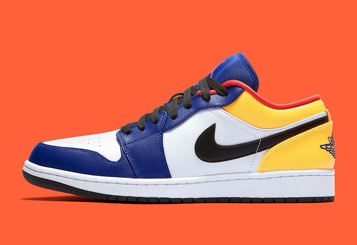 Air Jordan 1 Low Appears In Vibrant Multi Color Option For Summer