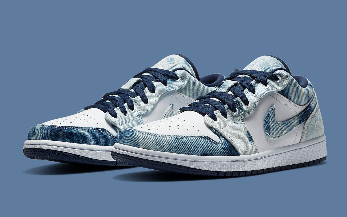 Air Jordan 1 Low Washed Denim On The Way House Of Heat