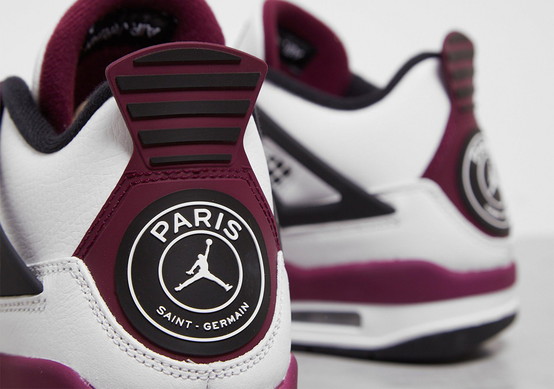 "Detailed Looks at the Air Jordan 4 PSG ""Paris Saint"