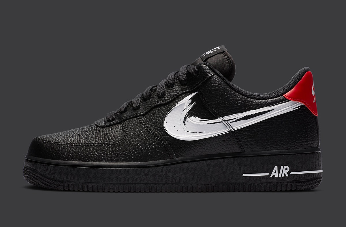 Nike Air Force 1 Brushstroke Swoosh Pack Appears House Of Heat Sneaker News Release Dates And Features