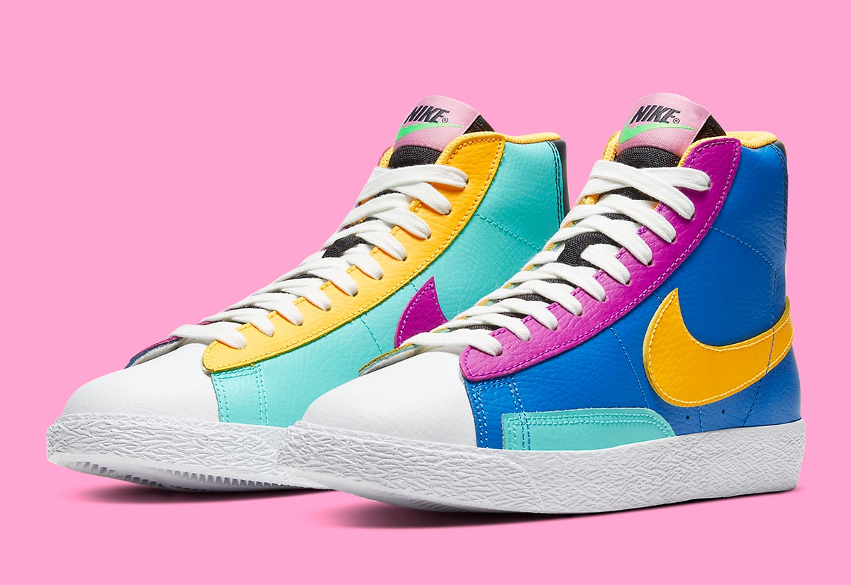 Available Now // The Nike Blazer Comes Up in Colorful Mismatched ...