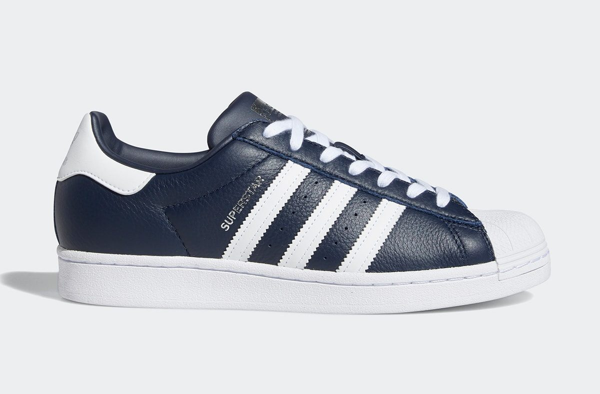 Available Now // adidas Superstar in Navy/White | HOUSE OF HEAT