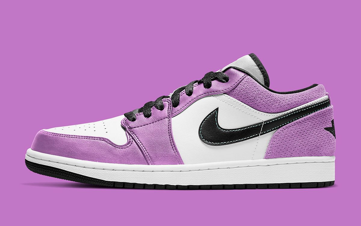 "New Air Jordan 1 Low ""Fuchsia"" Features a Perforated Suede Finish"