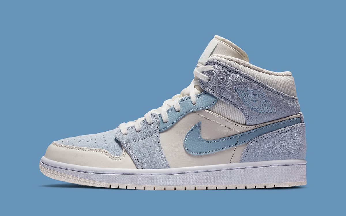 The Air Jordan 1 Mid Gets Made Over in a Mix of Materials and Muted Hues
