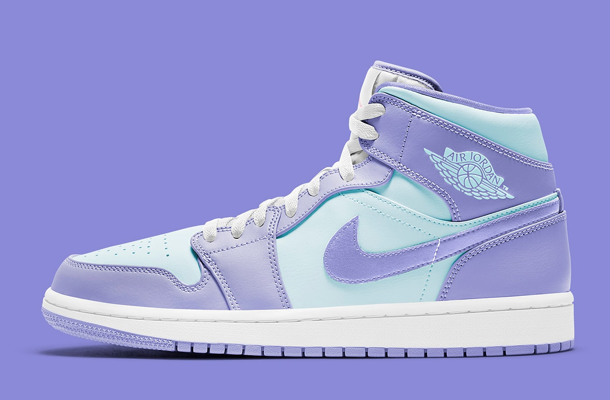 The Air Jordan 1 Mid Appears in Aqua and Lavender - HOUSE OF ...